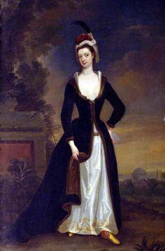 Lady Jemina Gray geschilderd door Charles Jervas 1716-1720 - Turquerie in Portrait Painting