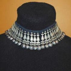 Tribal Belly Dance Jewelry Tribal Dangles Necklace - Kuchi Jewelry