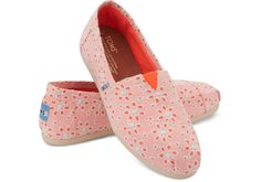 Add a pop of brightness to your wardrobe with these Orange Anglaise Women's Classics | TOMS