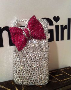 iphone5C case iphone 5s case bow samsung galaxy s4 case Bling note 2 S3 case crystal gemstone luxury i9300 cover iphone 4 4s 5 5g case on Etsy, $23.99