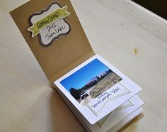 Polaroid-style flip book made with Fabulous Frames stamps & dies - by Maile Belles