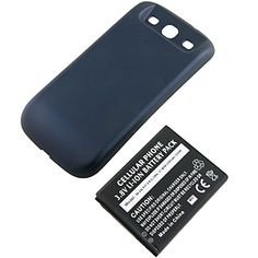 Extended Battery w/ Battery Cover for #Samsung Galaxy S III, Blue $33.99 From #DayDeal