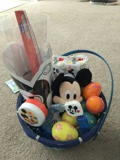 Toddler mickey mouse basket