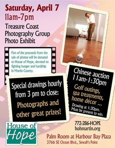 Treasure Coast Photography Group Photo Exhibit Saturday April 7th. For more events in Martin County visit www.MCKIA.com for help marketing your business visit www.MCKIA.biz