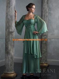 684aaf821b9 Wholesale Custom Color Chiffon Floor length Beading Long Sleeve Mother Of  The Bridal With Jacket Dresses