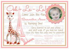 Sophie the giraffe invites