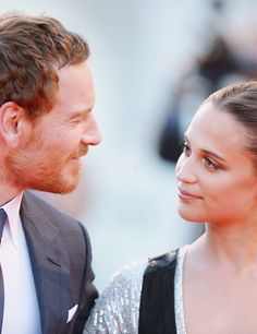 Michael Fassbender and Alicia Vikander attend the premiere of The Light Between Oceans during the 73rd Venice Film Festival at Sala Grande on September 1st, 2016 in Venice, Italy