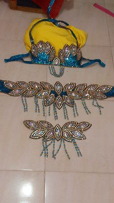 Newshellfish Belly Dance Costume Bra and Belt Made in Egypt 1 | eBay