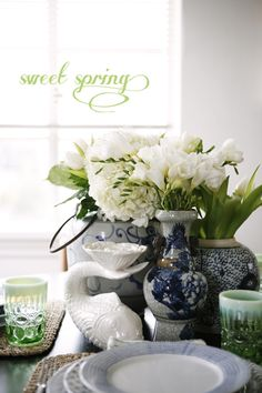 SWEET SPRING :: A TABLETOP IN WHITE + BLUE