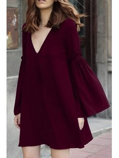 GET $50 NOW | Join Zaful: Get YOUR $50 NOW!https://m.zaful.com/bell-sleeve-solid-color-flare-dress-p_123176.html?seid=u31h0nti62k6m5hd9ka3cerln3zf123176