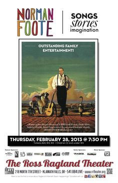 Fun family entertainment coming to The Ross Ragland Theater February 28, 2013 @ 7:30 pm. www.rrtheater.org for tickets