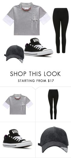 """black,Lisa and Lena"" by tosilovaveronika ❤ liked on Polyvore featuring Converse"