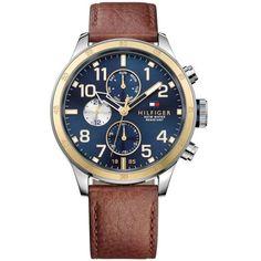 eb6e9152b84 Relógio Masculino Tommy Hilfiger com pulseira de Couro Marrom - 1791137  Tommy Watches