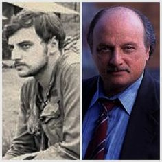 "DENNIS FRANZ (l. when he was in the Vietnam War; r. when he starred in ""Hill Street Blues"")"