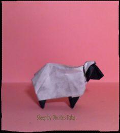 A sheep origami model Origami Models, Sheep, Kitten Heels, Fashion, Moda, Fashion Styles, Fashion Illustrations