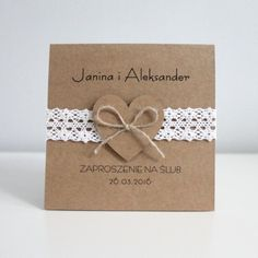 zaproszenie-sweetheart-brazowe/ - The world's most private search engine Wedding Cards, Diy Wedding, Wedding Stationery, Wedding Invitations, Handmade Birthday Cards, Save The Date, Cardmaking, Wedding Decorations, Place Card Holders