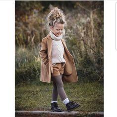 Coat Sweater Shorts Tights autumn beige knitwear -  - #Uncategorized Little Girl Outfits, Little Girl Fashion, Toddler Girl Outfits, Toddler Fashion, Kids Fashion, Toddler Girl Fall, Toddler Thanksgiving Outfit Girl, Toddler Girl Clothing, Fall Baby Outfits
