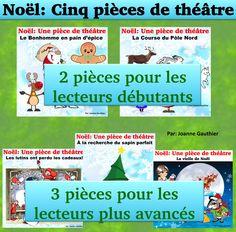 C'est Noël - des pièces de théâtre à pratiquer avec les enfants. Fun Christmas readers' theatre to practice with your students in French class this holiday season.