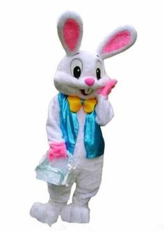 Easter Bunny Rabbit Mascot Costume Cartoon Cosplay Adults Fancy Dress Outfit #Unbranded #CompleteOutfit