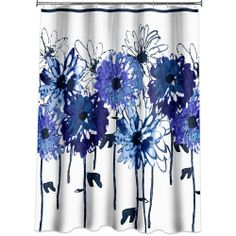 Allure Eve Shower Curtain - this matches my towels! Contemporary Shower, Curtain Fabric, Where The Heart Is, Eve, Blue And White, Prints, Walmart, Home Decor, Bath Room