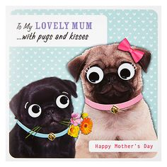 Pugs And Kisses Mother's Day Greeting Card