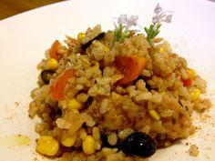 Ensalada de arroz integral, por Patxi Gimeno, cocinero deportivo