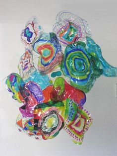 Dale Chihuly Inspired Sculpture - Shrinky Dink