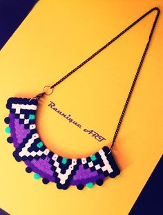 A handmade necklace made of hama beads :) You can see more on my facebook Belly Button by Izabela Raunik page :D