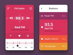Here is a lovely mobile radio concept that was created by exploring some colors combinations. The ui design is flat with vibrant colors that makes it stand out from others. Nice work done by Vijay Verma.