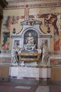 Tomb of Galileo, Santa Croce, Florence Italy