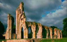 Glastonbury Abbey, 12th century remains. Plundered & left to ruin after the Dissolution of the Monasteries in the 1530's.