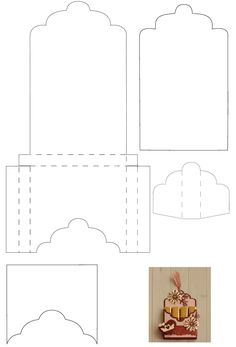 Envelope and card insert template paper crafts for Card box template generator