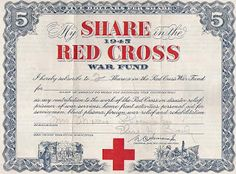Franky's Scripophily BlogSpot: My share in the 1945 Red Cross War Fund