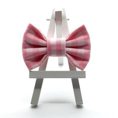 Adorable Pink Gingham Hair Bow