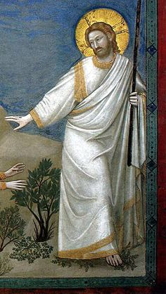 "Detail of Jesus from Giotto di Bondone, ""Scenes from the Life of Christ: 21…"