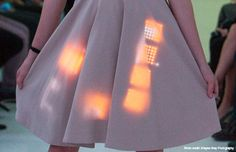 The MeU Square Lets You Display LED Messages On Your Clothing #LED trendhunter.com