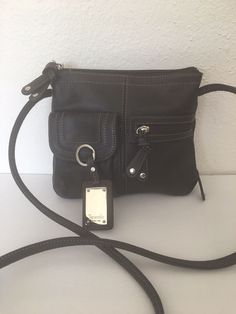 Tignanello Leather Organizer Bag Designer Fashion Brown Crossbody Chic  Female  Tignanello  MessengerCrossBody Bag Organization edc56dd5414d7