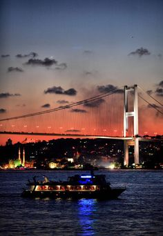 Bosphorus Bridge, Istanbul, Turkey - a unique city that spans 2 continents at once, with the Bosphorus Strait separating Europe and Asia