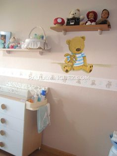 Mural infantil con ositos Baby, House Decorations, Murals, Baby Humor, Infant, Babies, Babys