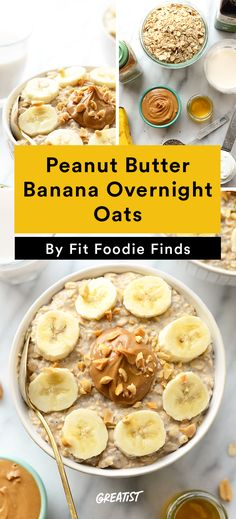 2. Peanut Butter Banana Overnight Oats #greatist http://greatist.com/eat/meal-prep-recipes-for-every-meal
