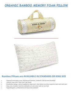 Clara Clark Memory Foam Pillow Free Home Delivery Tax Included Standard $8 King $40
