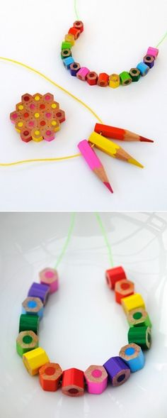 DIY Colored Pencils Jewelry