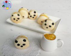 Panda macarons with lemon curd filling