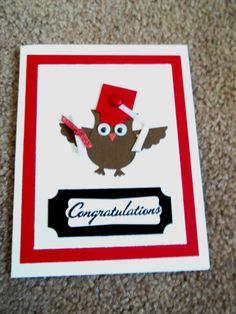 Graduation card owl