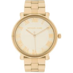 Michael Kors Norie Watch (295 CAD) ❤ liked on Polyvore featuring jewelry, watches, acc, accessories, michael kors jewelry, water resistant watches, stainless steel wrist watch, stainless steel watches and michael kors watches