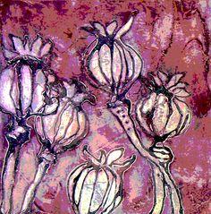 Risultati immagini per collograph Fabric Painting, Fabric Art, Collagraph Printmaking, Nature Sketch, Nature Artists, Collage Art Mixed Media, Natural Forms, Linocut Prints, Gravure