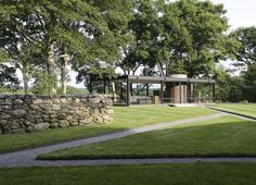 The Glass House by Philip Johnson in New Canaan Connecticut