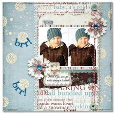 Brr! Brr!  *Fancy Pants* - Scrapbook.com - Nice layout - love the colors! #scrapbooking #winter #fancypantsdesigns