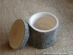 Hollow-Log Spice Pot and General-Purpose Box, Rustic Storage Container Gift. ◅. ▻