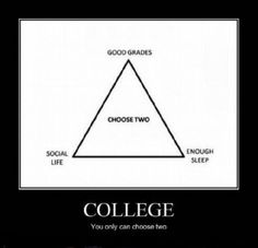 I feel like this is true...guess which ones I picked! (here is a hint...my grades are no bueno!)